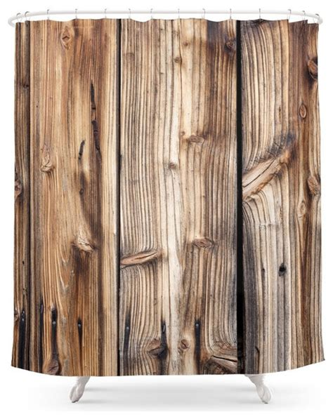 wood shower curtain rustic shower curtains by society6