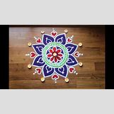 Rangoli Designs With Flowers And Colours | 1280 x 720 jpeg 145kB