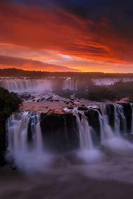 Sunset Most Beautiful Waterfalls