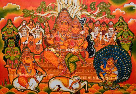 kerala mural artists mural paintings shaji kollengode
