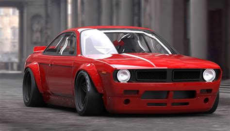 90s aston martin rocket bunny combines 240sx and barracuda 95 octane