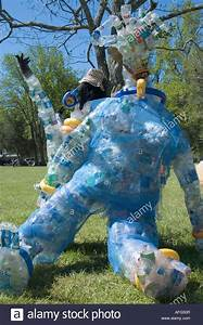 Large Human Shaped Sculpture Made From Recycled Plastic