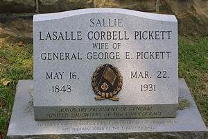 The grave of General George Pickett's wife, LaSalle ...