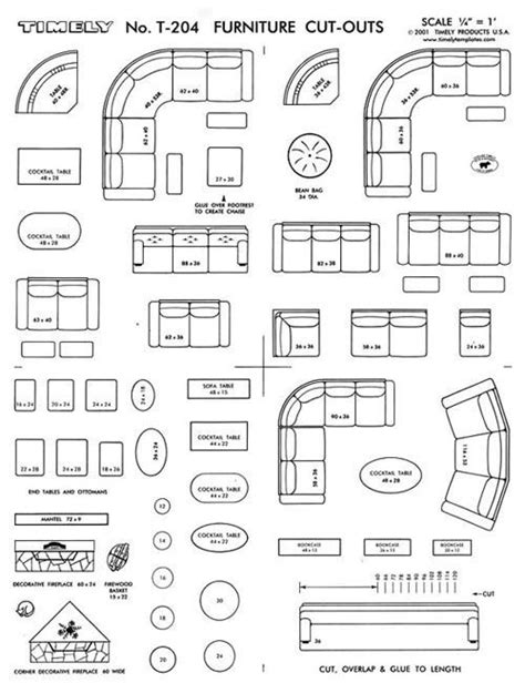 furniture arranging kit  scale interior design