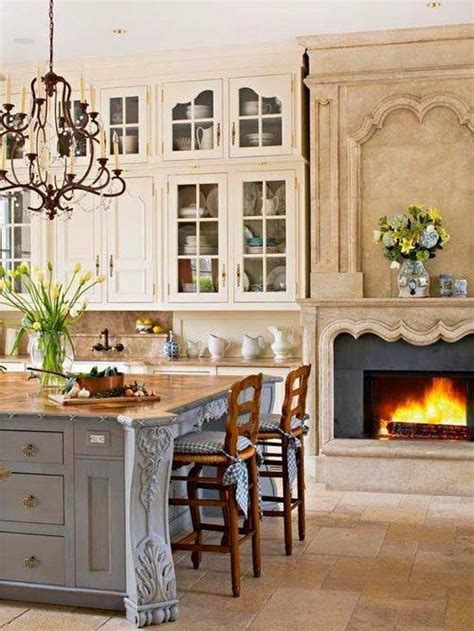 beautiful kitchen  fireplace pictures