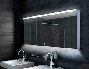Bad Spiegelschränke Mit Led Beleuchtung : design alu spiegelschrank led beleuchtung 160x70cm lmc16070 ~ Bigdaddyawards.com Haus und Dekorationen