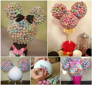 Wonderful DIY Minnie Mouse Lollipop Tree