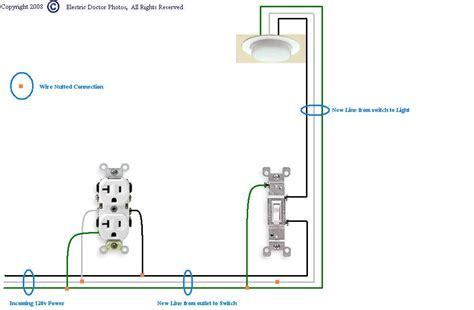 Have Electrical Outlet Want Add Light Switch Beside Plug