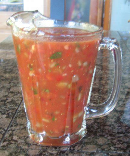spanish gazpacho soup recipe whats cooking america