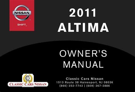 car repair manuals online free 2011 nissan altima regenerative braking 2011 altima owner s manual