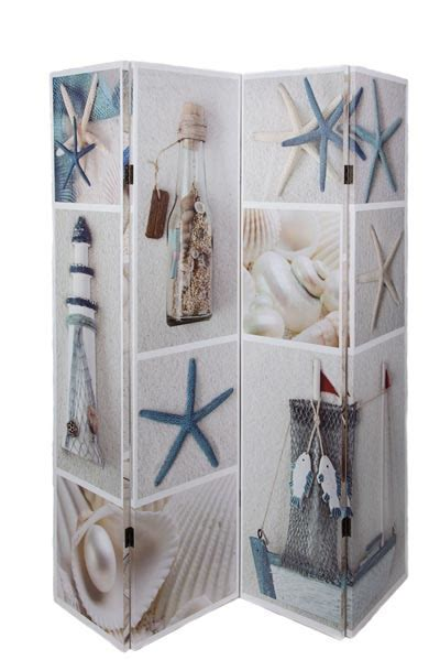 Beach Collage Room Divider   Globe Imports