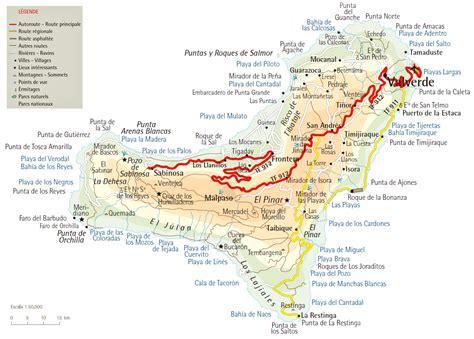 Carte Des Autoroutes Du Centre De La by Cartograf Fr L Espagne Les Iles Canaries El Hierro