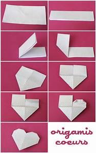 Faire Des Origami : coeurs en origami origami kirigami origami origami coeur et papier origami ~ Nature-et-papiers.com Idées de Décoration