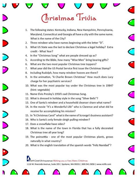 25+ Best Ideas About Christmas Trivia On Pinterest