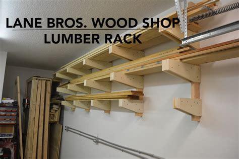 shop  lumber rack youtube