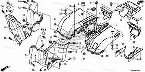 Honda Atv 2015 Oem Parts Diagram For Rear Fender