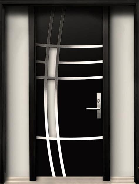 black garage doors modern wood door with stainless steel design