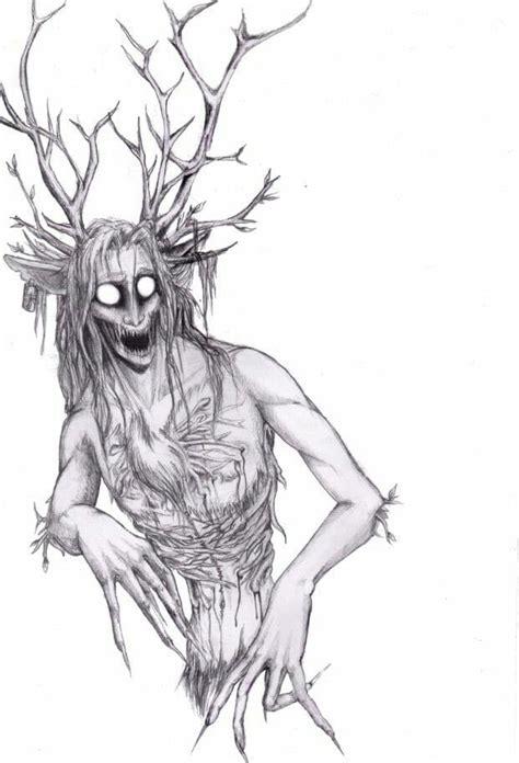 wendigo creatures deviantart drawings paranormal dessin horror monstre skin drawing mythical creature monsters monster beast american creepy du native mythological