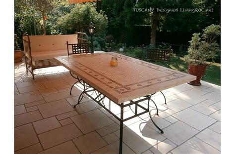 mosaic outdoor dining table 78 quot outdoor patio dining table italian mosaic stone marble