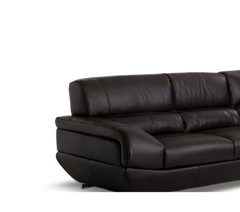 espresso leather sectional sofa dreamfurniture com alfred modern espresso leather