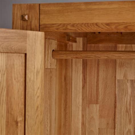 quercus triple wardrobe rustic oak oak furniture land