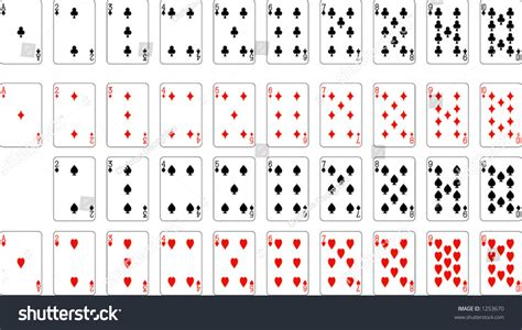 number aces deck playing cards excluding stock vector