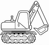 Excavator Coloring Pages Drawing Printable Truck Bulldozer Template Easy Getdrawings Boys Dump Bagger Ausmalbilder Zum Ausmalen Crane Ausdrucken sketch template