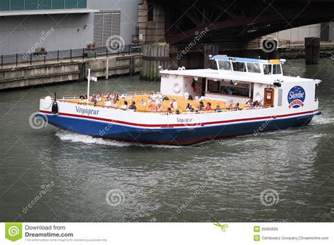 Free Boat Rides In Chicago by Chicago River Boat Tours Editorial Photo Image 20960626