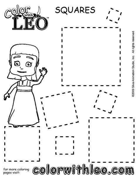 square coloring pages print free coloring pages of shapes for