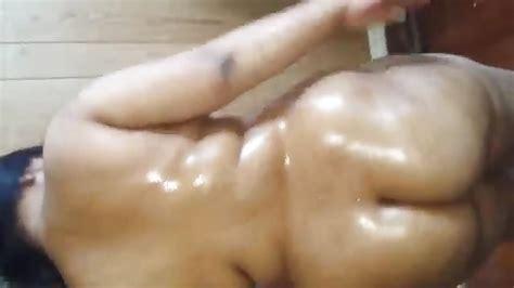 Oiled Indian Milf Masturbates And Fucks