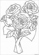 Roses Flower Coloring Pages Printable Coloringpagesonly sketch template