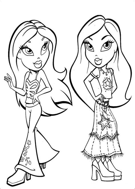 bratz coloring pages  printable coloring pages