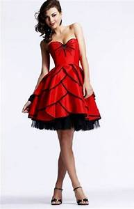 red puffy prom dresses designs With robe noir et rouge