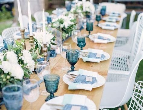 baby shower table settings photos picture of rustic denim table setting for a boy baby shower