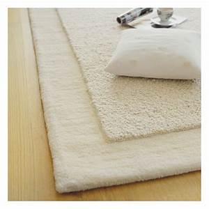 Tapis Laine Blanc : tapis en laine uni cru loft brink campman 140x200 ~ Melissatoandfro.com Idées de Décoration
