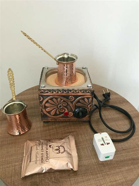 Instant coffee vs turkish coffee. Copper Sand Turkish Arabic Coffee Maker Electric Coffee Brewer Machine + 2 Coffee Pots + 100g ...