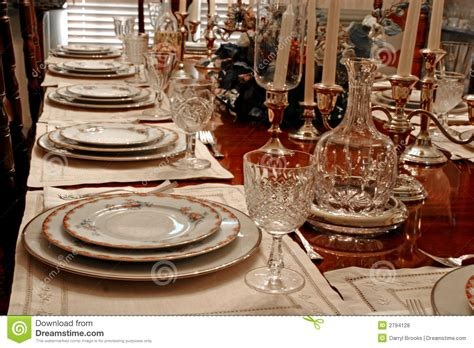 formal place setting royalty  stock  image