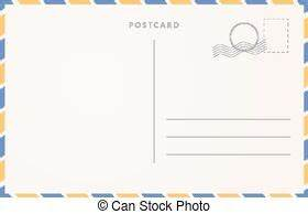Vintage empty blank postcard template front and back ...