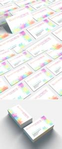 personal business card mockup templates images vectors