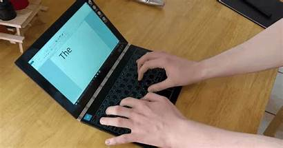 Laptop Lenovo Typing Keyboard Turn Yoga Remove