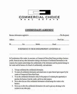 6 sample real estate confidentiality agreements free With real estate broker agreement template