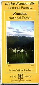 Kaniksu National Forest Map Forest Service Map Kaniksu