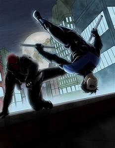 Red Hood vs. Nightwing | Batman | Pinterest | Jason todd ...