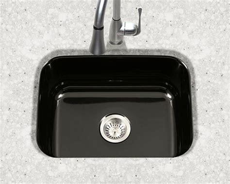 small black kitchen sink houzer porcelain enameled steel kitchen sinks 5355