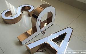 face lit acrylic channel letters colors pvd stainless With face lit letters