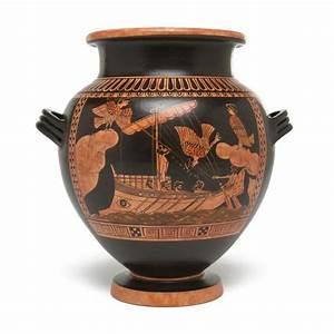 Greek Stamnos Vase - Odysseus & Sirens - Small – The Getty