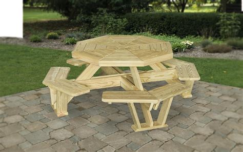 wooden patio table with umbrella