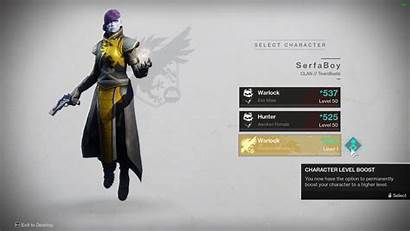 Character Boost Power Destiny Screen Select Icon