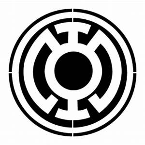Blue Lantern Corps Symbol Stencil | Free Stencil Gallery