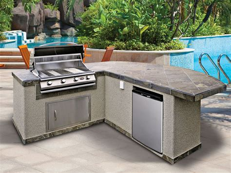 outdoor l post lowes kitchen grill island kits lowes outdoor kitchen
